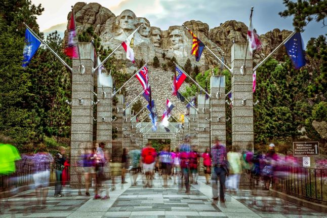 The walkway to the Grand View Terrace at Mount Rushmore.
