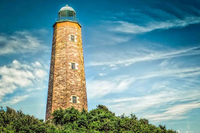 The Cape Henry Lighthouse in Virginia Beach, Virginia built in 1792.