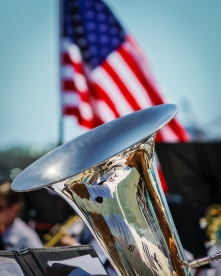 A US Navy Band performing in Southern California.